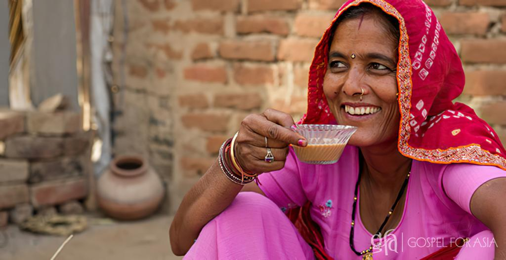 Despite her being a widow, Sadhri could smile again after she found a new hope in Jesus through the help of Gospel for Asia workers.