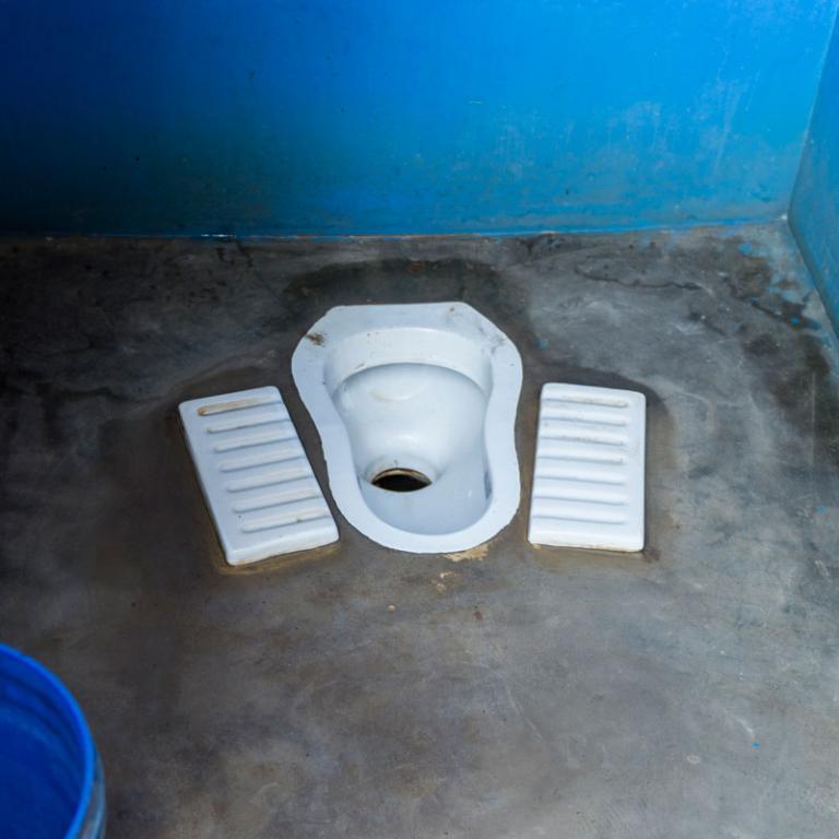 A Squat Outdoor India Toilet