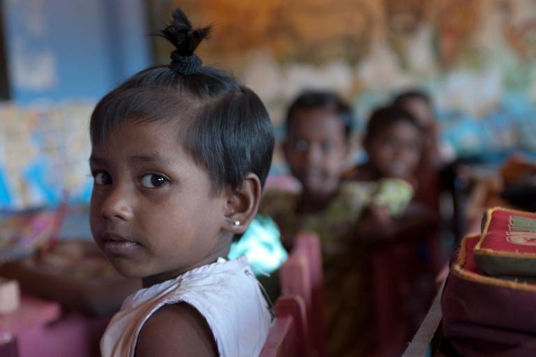 Photo of little girl from Sri Lanka