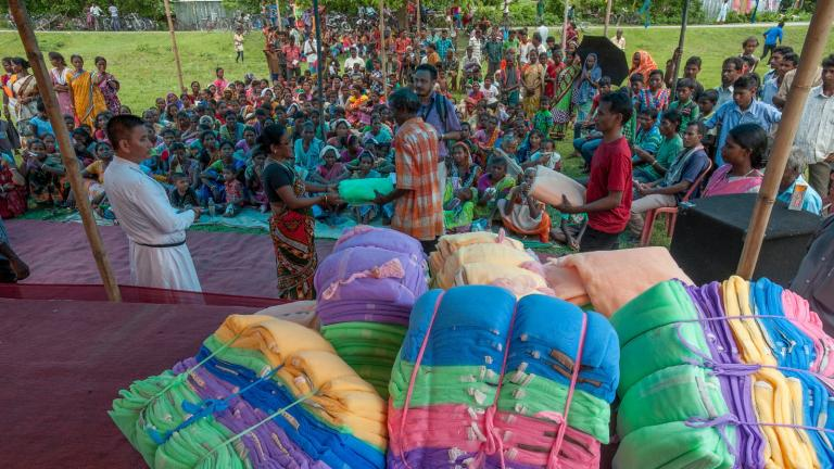 Local Believers Eastern Church distributed over eight hundred mosquito nets to villagers from economically poor backgrounds.