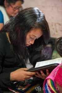 Woman reading God's Word, the Bible