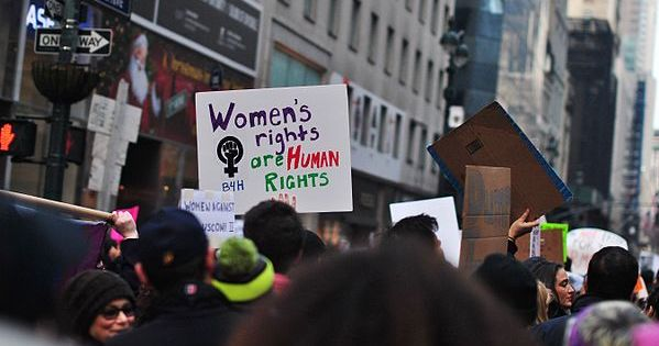 women's rights protest, New York