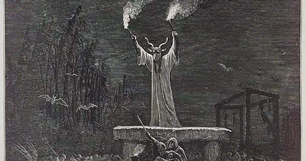 "Image Source: La Danse Du Sabbat, Paul Christian ""History of Magic"", Paris, 1870 via wikimedia"