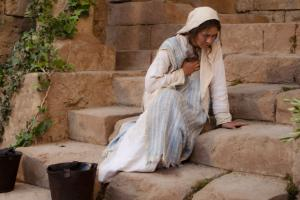 Mary reacts to the Angel Gabriel's announcement. From LDS.org