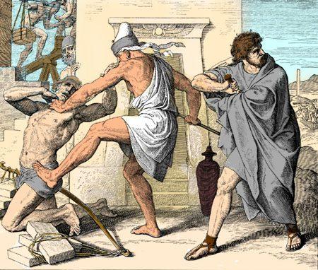 Moses beholds murder of Israelite
