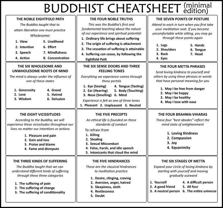 buddhist cheat sheet minimal edition james ford