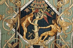 adam-and-eve-temptation-by-the-serpent-mediaeval-painted-panel-on-wooden-nave-ceiling-ely-cathedral-david-lyons