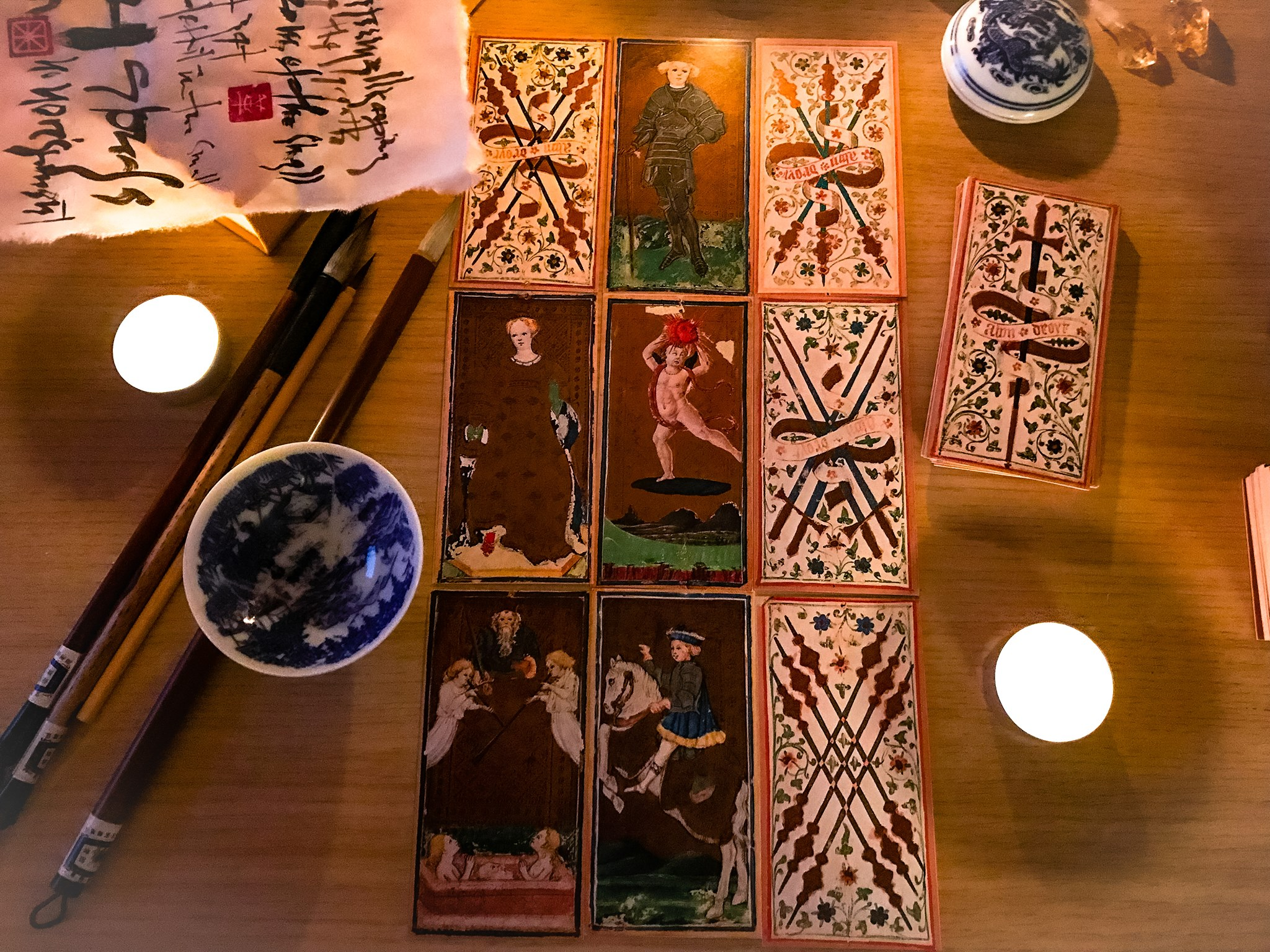 Visconti Sforza Tarot, Il Meneghello edition 2002 (Photo: Camelia Elias)