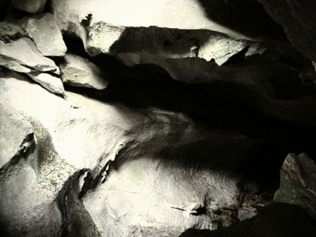 My spirit cave is based on the actual Lusk Cave in Gatineau Park, Quebec.