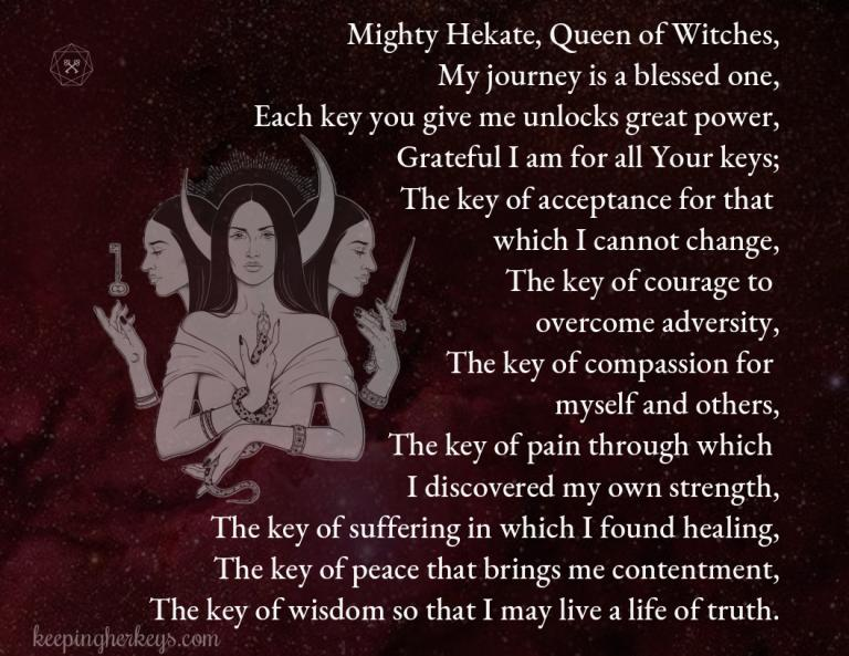 The Power of the Witches' Prayer to Hekate, the Witches