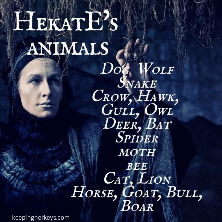 list of Hekate's animals Witch Goddess