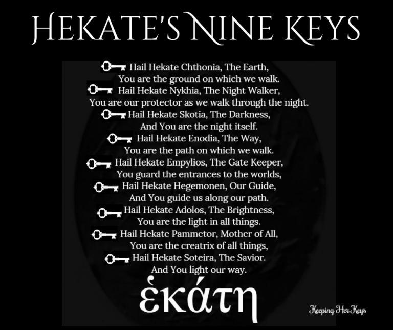 Hekate's Nine Keys Ritual   Cyndi Brannen