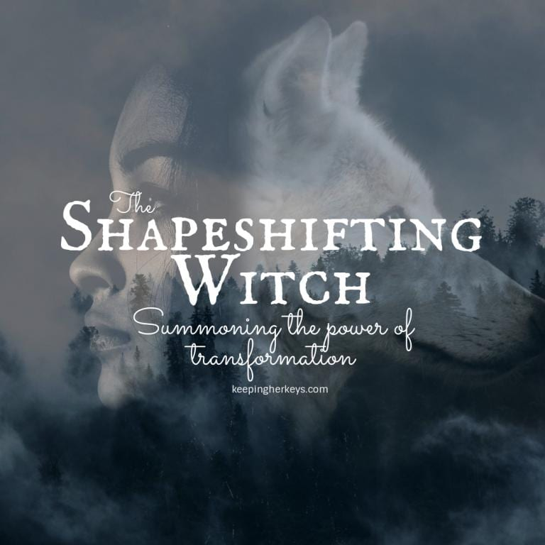 Shapeshifting can bring transformation. Wolf and Women merging.