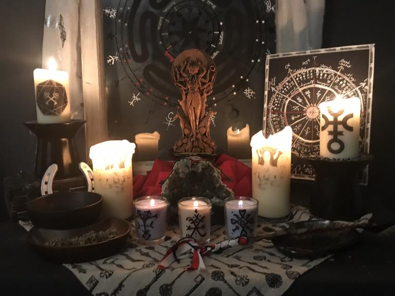 Hekate altar for COVID-19