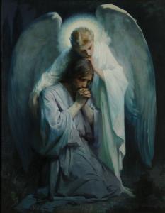 Jesus suffering in Gethsemane