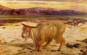 The scapegoat William Holman Hunt [Public domain], via Wikimedia Commons