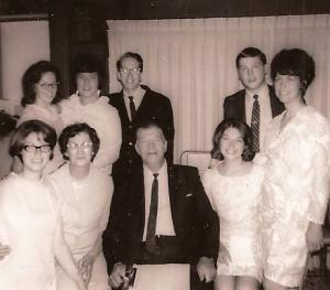 1970s picture of family and friends