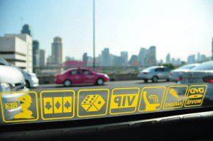 Taxi decals in Bangkok