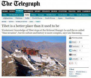 Telegraph: Tibet is a better place