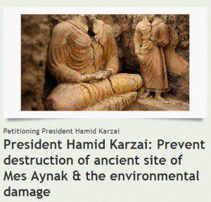 Mes Aynak Buddhas Petition
