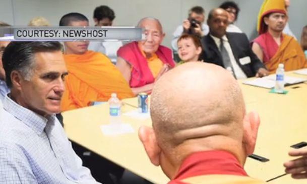 Mitt Romney and Tibetan Buddhist Monks