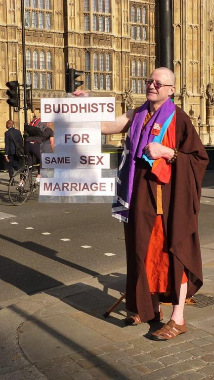 Buddhists for same sex marriage! England.