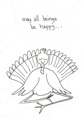 Meditating turkey - may all beings be well