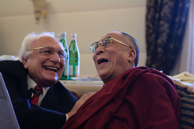 The Dalai Lama with Italian politician Marco Pannella (2007)