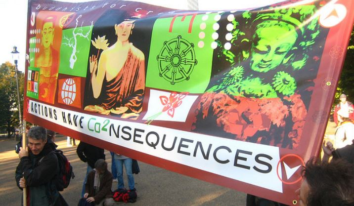 Actions have Consequences - Buddhists march for climate change awareness