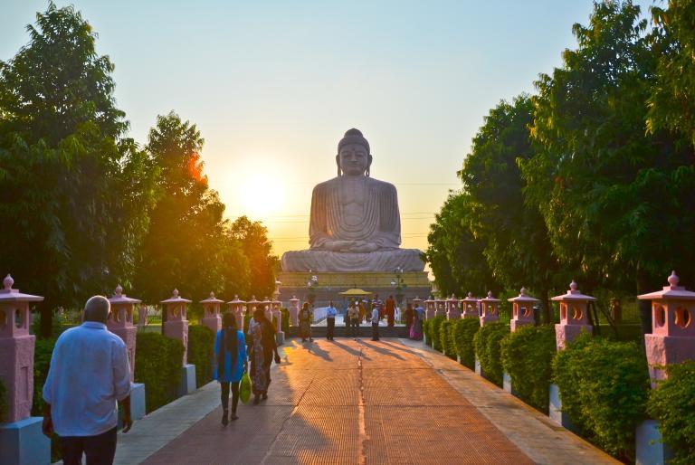 Great Buddha Statue at Daijokyo Buddhist Temple, Bodhgaya, India (2014)