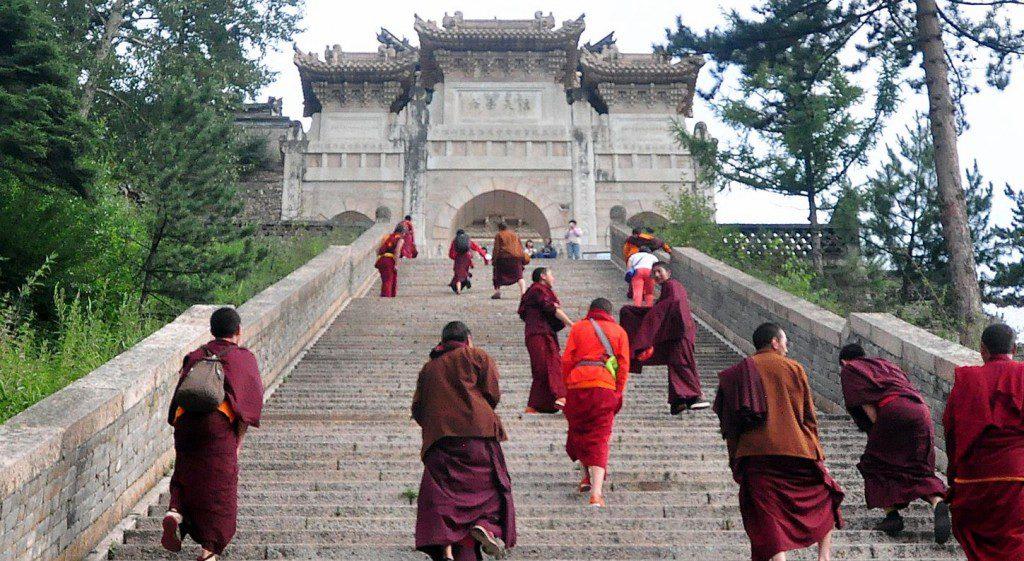 Tibetan monks wutai shan china 2016