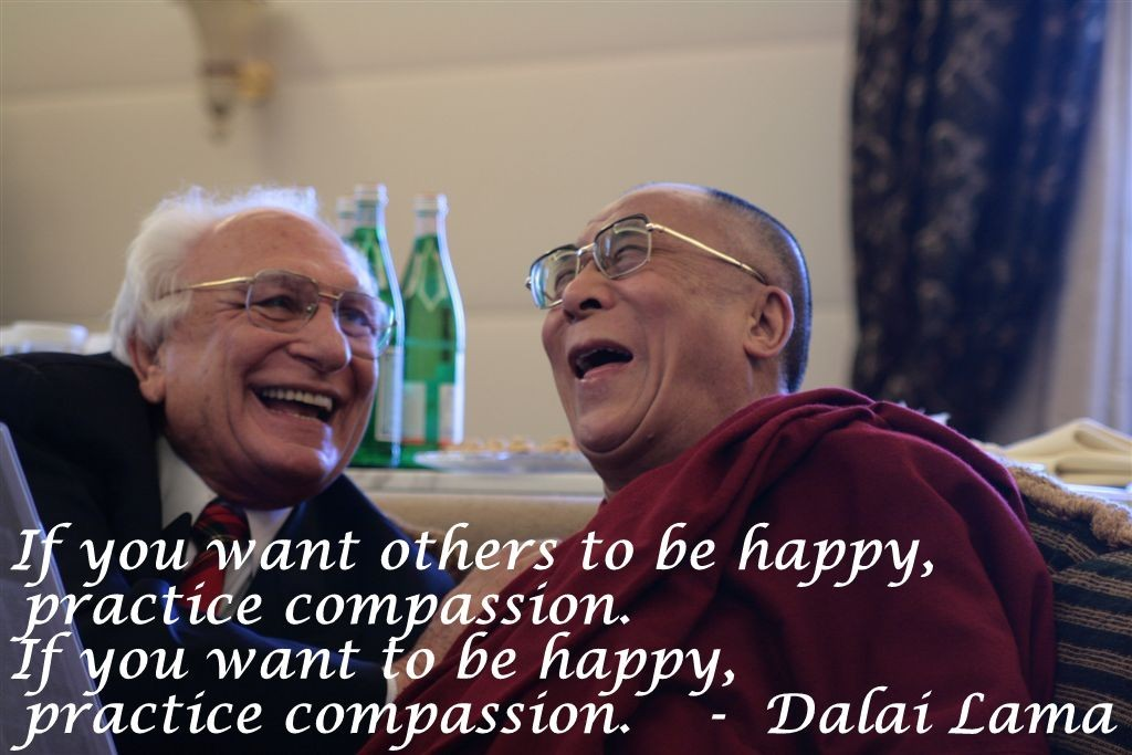Dalai Lama with Marco Pannella (photo by flickr user dumplife (Mihai Romanciuc) - modified with quote by permission)