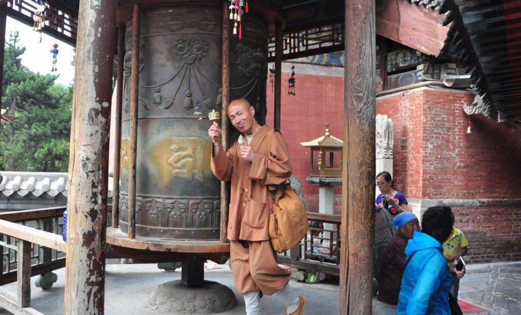 monk with icecream