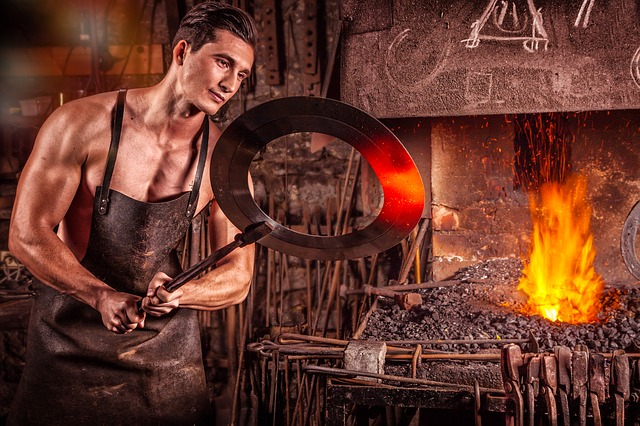In his 'mindful blacksmithing' course, Michael learned to be one with the steel.