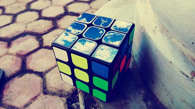 Solved? Unsolved? This is a duality. The cube is your mind. Your mind is the sky. Bam!