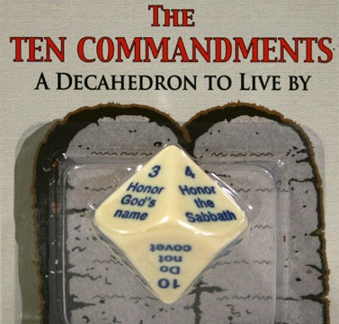10 commandments dice