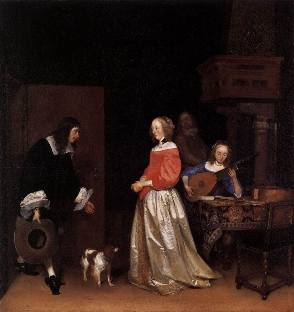 The Suitor's Visit, by Gerard ter Borch