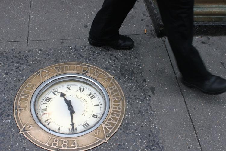 (NYC Sidewalk Clock / Hodinkee)