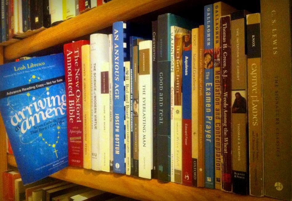 book on bookshelf