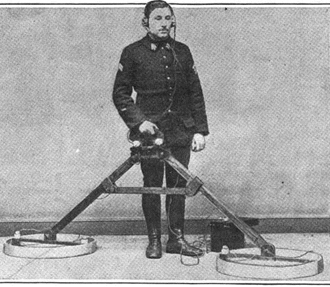 Early metal detector / Wikimedia commons