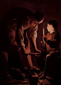 Jesus in the workshop of Joseph the Carpenter, by Georges de La Tour, circa 1640