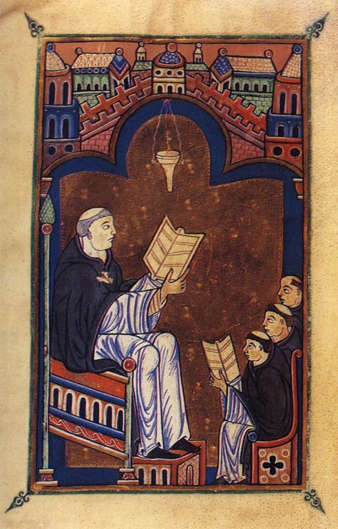 Illumination of Hugh of Saint Victor (circa 1200)
