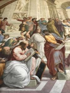 Detail from Raphael's The School of Athens, Vatican City