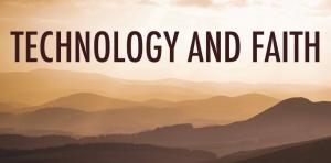 Detail of banner from Technology and Faith Unconference (December 2018)