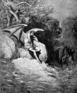 """Image: """"O Earth, how like to Heav'n, if not preferr'd / More justly"""" —John Milton, Paradise Lost, illustrated by Gustave Doré"""
