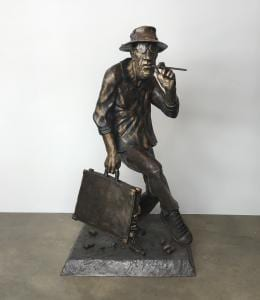 Sculpture of Hunter S. Thompson (American University Museum, 2018)