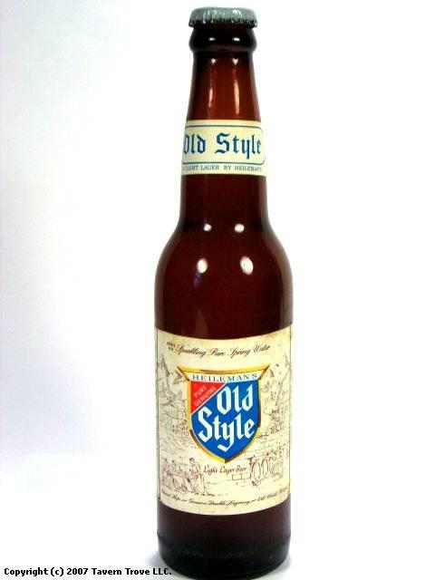 Old Style Light Lager Beer Bottles Paper Label G Heileman Brewing