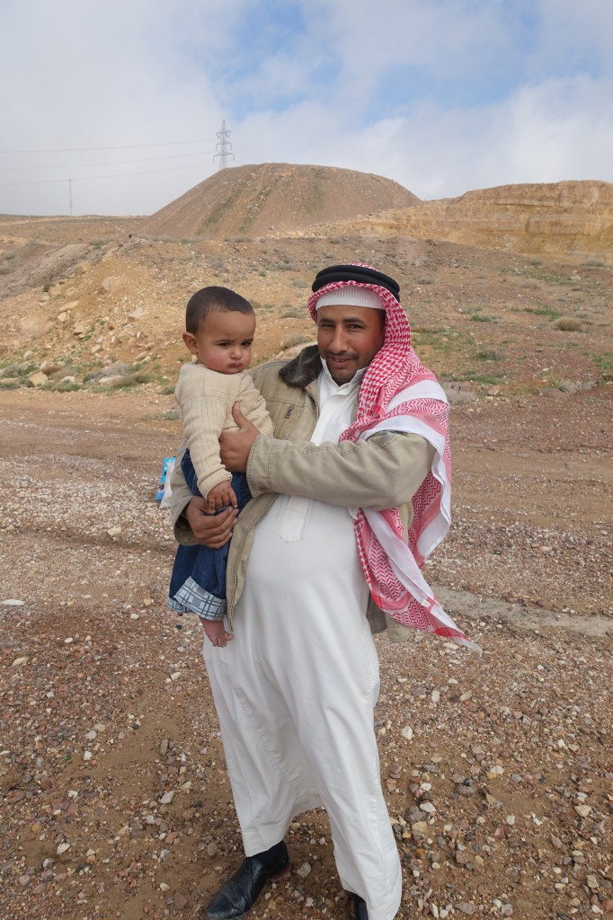 Bedouin father, and son, somewhere in the Arabah.