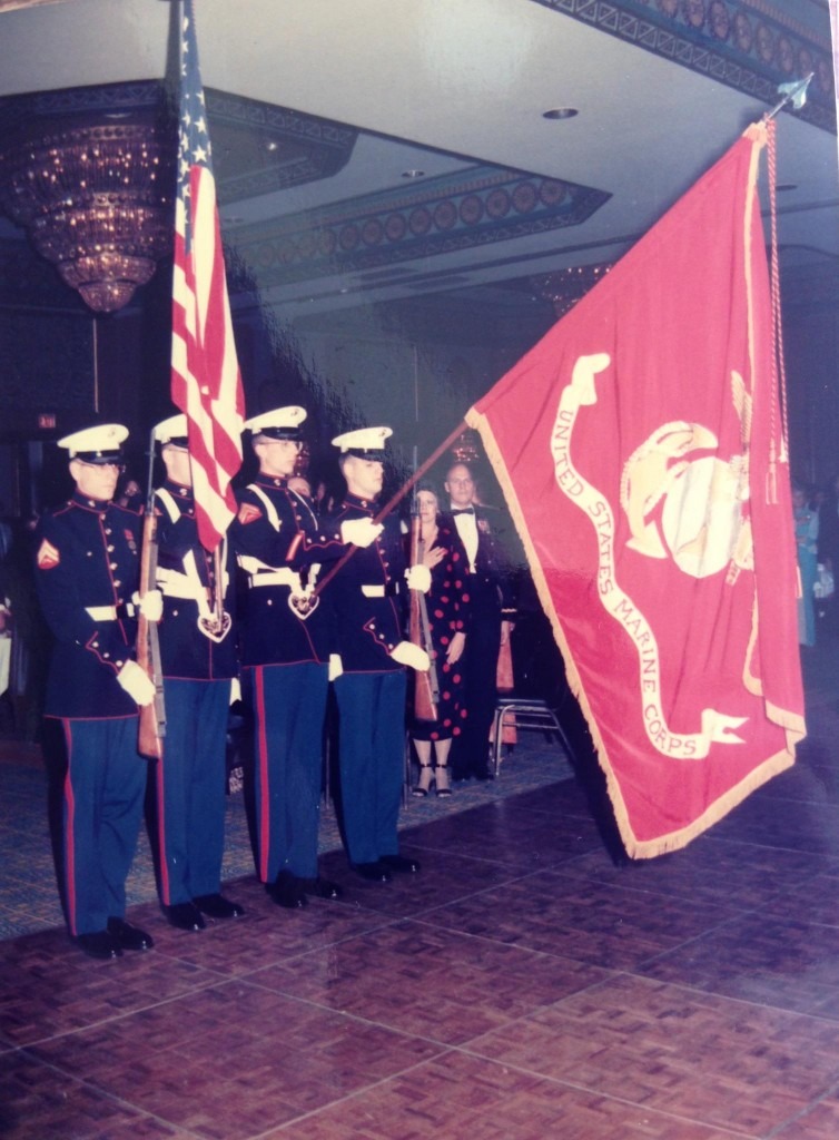 My buddies and me, saluting the Colors.