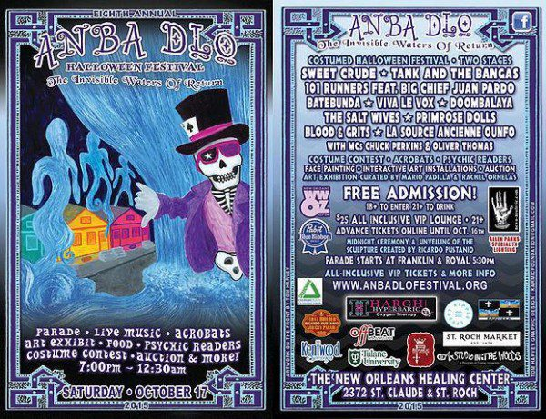 Anba Dlo poster Healing Center New Orleans